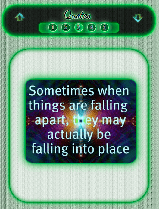 Sometimes When Things Are Falling ~ Janet's Planet Quotes