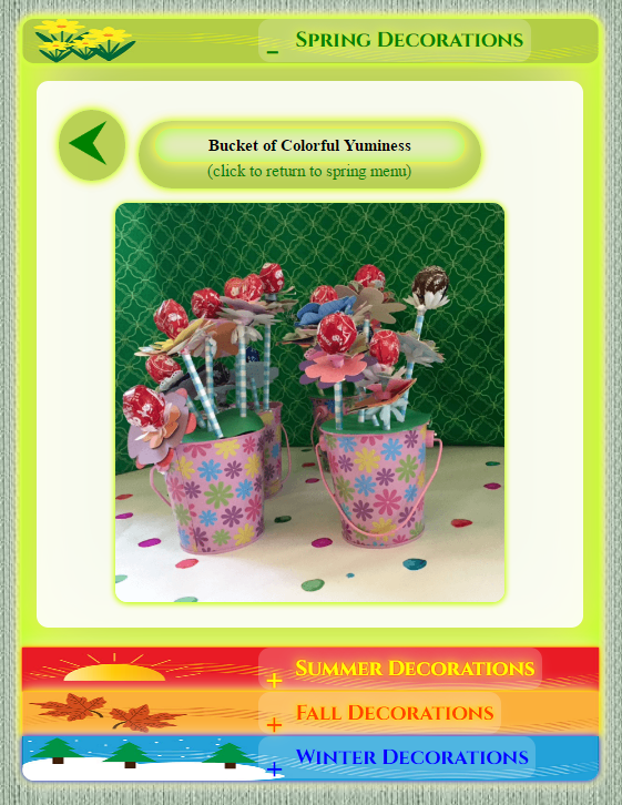 Bucket of Colorful Yuminess ~ Spring Decorations ~ Seasonal Decorations